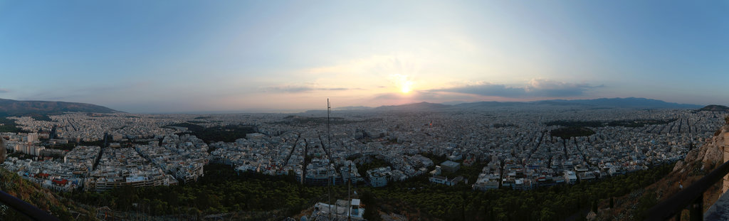 Athen, Blick vom Lykavittos